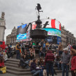 图库照片: Eros Statue, Piccadilly Circus, London