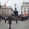 ストック写真: Eros Statue, Piccadilly Circus, London