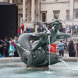 Stock Photo: Trafalgar Square fountain