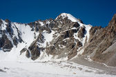 Mountain view of peak Teketor in Kyrgyzstan — Zdjęcie stockowe