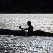 Canoeist — Stock Photo