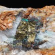 Minerals detail with pyrite and quartz — Foto Stock