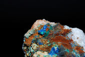 Minerals with azurite great view — Stock Photo