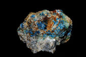 Minerals with azurite and malachite big — Stock Photo