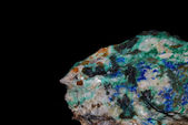 Minerals malachite azurite pyrite — Stock Photo