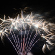 Big white fireworks — Stock Photo