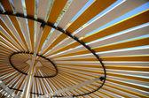 Parasol at beach — Stock Photo