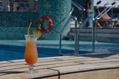 Coctail at the pool — Stock Photo