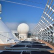 Top deck on a cruise ship — Stock Photo