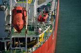 Rescue boat on ship — Stock Photo