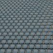 Stock Photo: Seated in stadion