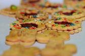 Colorful christmas cookies — Stock Photo