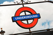 London Metro Underground sign — Foto de Stock