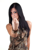 Young woman pointing to you — Stock Photo