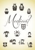 Personaggi medievali — Vettoriale Stock