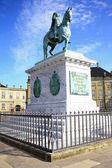 The Equestrian statue is King Frederik V, — Zdjęcie stockowe