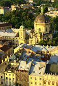 Lviv - the ancient city in western Ukraine. — Stock Photo