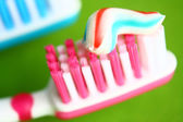 Toothbrush and toothpaste — Stock Photo