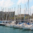 Yachts at Port Vell, May 11, 2013 in Barcelona, Spain. — Stockfoto
