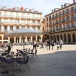Constitution Square, May 5, 2013 in San Sebastian, Spain. — Stock Photo