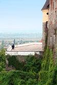 средневековая крепость. — Стоковое фото