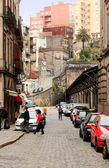 Old street in in down town in Porto, Portugal. — Stock Photo