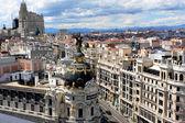 Metropolis building on the Gran via in Madrid, Spain. — Stock Photo