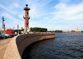 Vasilievsky island v petrohradu. — Stock fotografie