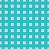 Seamless Gingham, Teal — Stock Vector