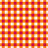 Seamless Gingham, red and orange — Stock Vector