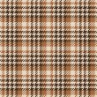 Stock Vector: Seamless brown Gingham comprised by threads