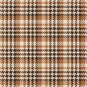 Seamless brown Gingham comprised by threads — Stock Vector