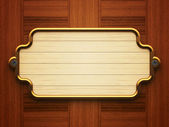 Wooden doorplate — Stock Photo