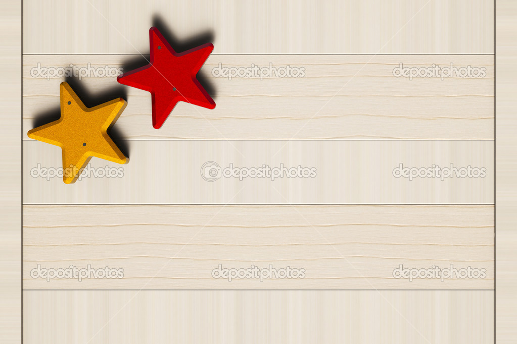 Painted stars nailed to the wooden board — Stock Photo #16927261