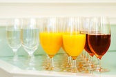 Glasses with soft drinks — Stock Photo
