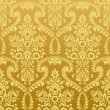 Seamless floral vintage gold wallpaper - Stock Vector