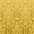 Seamless floral vintage gold wallpaper — ストックベクタ