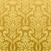 Seamless floral vintage gold wallpaper — Stock Vector