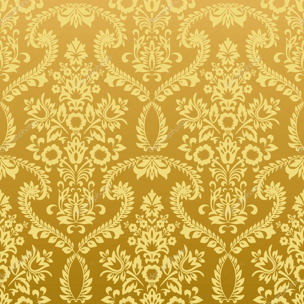 The gallery for gold vintage background for Vintage tapete