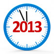 Clock 2013, whole — Stock Photo