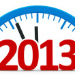 Clock 2013, half — Stock Photo