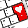 Computer keyboard love — Stock Photo #17639661