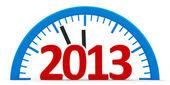 Clock 2013, half — Stock Photo