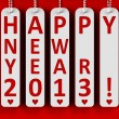 Happy new year 2013 — Stok fotoğraf