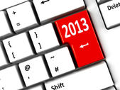 Computer keyboard 2013 — Stock Photo