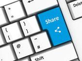 Computer keyboard share — Stock Photo