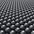 Black balls background — Stock Photo