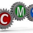 CMS gears — Stock Photo