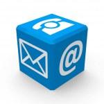 Blue contact button — Stock Photo #24437571