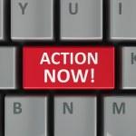Постер, плакат: Computer keyboard action now